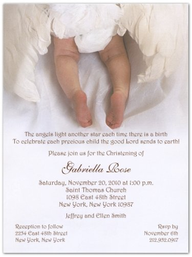 From Heaven Above Baptism Christening Invitations - Set Of 20 front-1030845