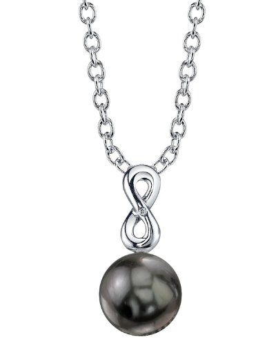 14K Gold Tahitian South Sea Pearl & Diamond Rachel Pendant