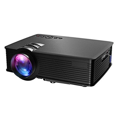 VicTsing Mini LCD Vedio Projector Multimedia Home Theater Movie Projectors Support 1080P HDMI USB SD Card VGA...