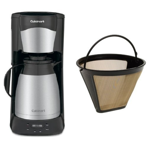 Cuisinart DTC-975BKN 12-Cup Programmable Coffeemaker and Filter Bundle (Cuisinart Carafe Insulated compare prices)