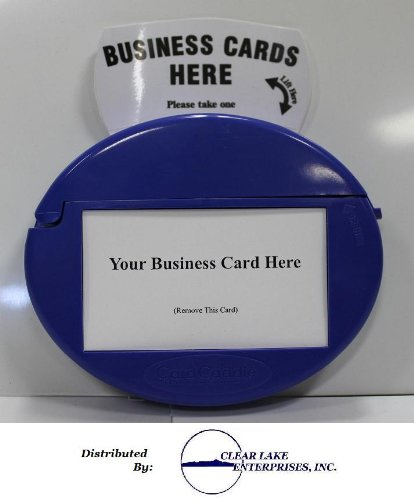 Card Caddie - Blue - Our Best Outdoor Vehicle Business Card Holder - By: Clear Lake Enterprises, Inc.
