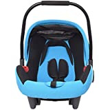 Baby Bucket Infant Car Seat With Adjustable Canopy (Dark Blue)