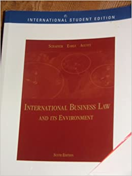 International business law and its environment book