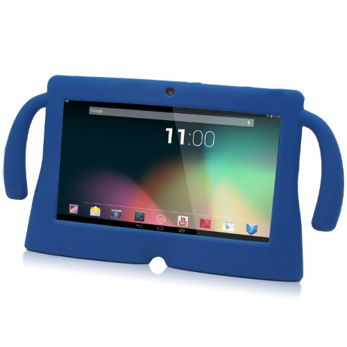 "TabSuit 7"" Blue Silicone Rubber Gel Soft Skin Case Cover case for 7"" Dragon Touch Dual Core Y88 Tablet [By TabletExpress]"