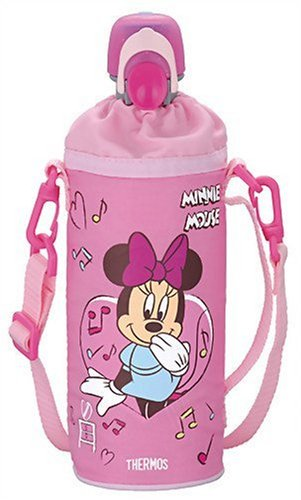 Thermos Plastic Bottle Caps And Cooler Disney Minnie (500Ml Pet Bottles For) Pink Rdi-500Ds P front-849142