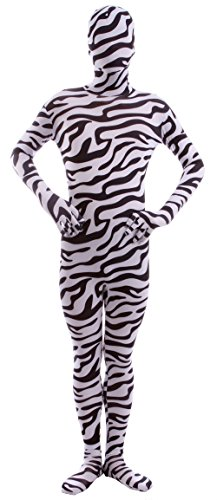 Marvoll Lycra Spandex Zebra Full Bodysuit Zentai Halloween Costume (XX-Large, Zebra)