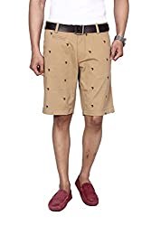 Hammock Men's Dark Brown Embroidery Club Edition Chino Shorts - Khaki/Brown (36), H21E05J50336