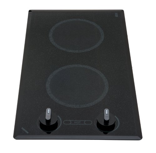 Kenyon B41596 6-1/2-Inch Mediterranean 2-Burner Trimline Cooktop With Analog Control Ul, 208-Volt, Black