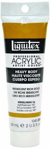 Liquitex Professional Heavy Body Acrylic Paint 2-Oz Tube, Iridescent Rich Gold