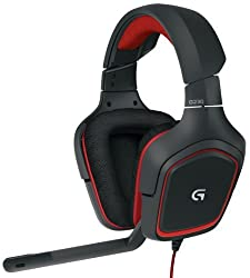 Logitech G230 Stereo Gaming Headset (Black and Red)
