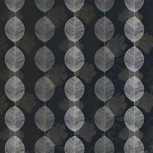 Arthouse Opera Retro Leaf Wallpaper - Black by New A-Brend