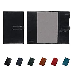 [牛本革]ジブン手帳専用 A5変型手帳カバー ベルト付き (ミーリングレザー) Business Leather Factory (ブラック)