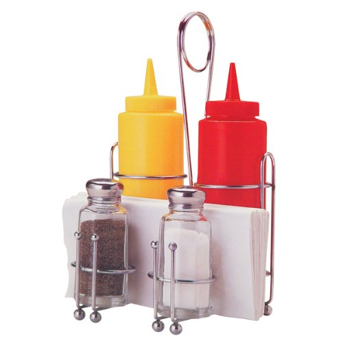 Tablecraft Products- Retro Condiment Caddy Set