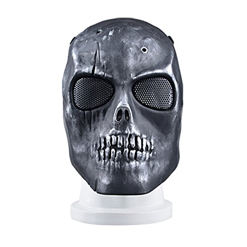 [Syrinx Battlefield Heroes Skeleton Mask - Protective Mask Gear for Use As Tactical Mask & Airsoft and Outdoor Cs War Game Mask - Scary Ghost Mask for] (Gi Joe Cosplay Costumes)