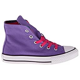Converse Girls Chuck Taylor CT TWo Fold Hi Hollyhock Sneakers (6Y)