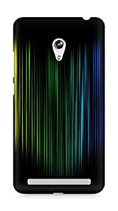 Amez designer printed 3d premium high quality back case cover for Asus Zenfone 6 (atomic colourful lines)