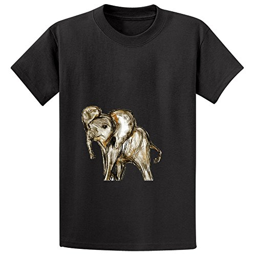 baby-elephant-girls-crew-neck-customized-shirts-black