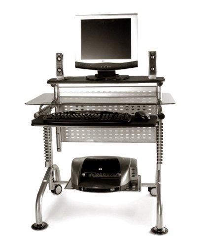 Innovex Dp004g29 Glass Top Computer Desk