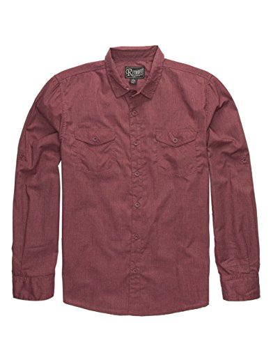 RETROFIT Kennedy Boys Shirt, Burgundy, Large