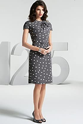 125 Years Short Sleeve Fan Bow Spot Dress - Marks & Spencer :  short sleeves dress marks spencer retro