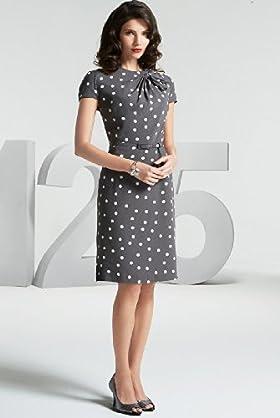 125 Years Short Sleeve Fan Bow Spot Dress - Marks & Spencer