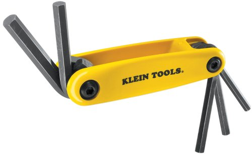 Klein Tools 70570 Grip-It Hex-Key Sets With 5-Inch Sizes, Yellow