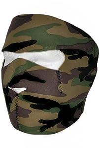 Masque complet en néoprène pour Airsoft, Paintball, Ski et sports d'extérieur Camouflage forêt