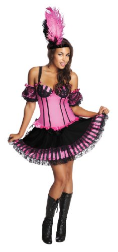 Secret Wishes Deluxe Can-Can Girl Costume With Corset