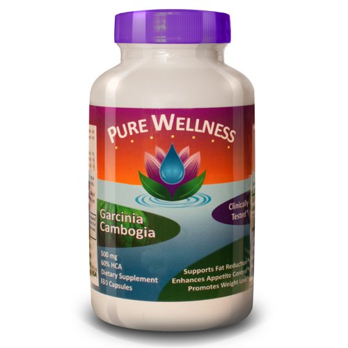 Pure Wellness ★ Garcinia Cambogia ★ 500Mg ★ 60% Hca ★ 180 Capsules ★ Lose Weight Or Your Money Back ★ #1 Best Selling Weight Loss Formula As Recommended By Dr. Oz