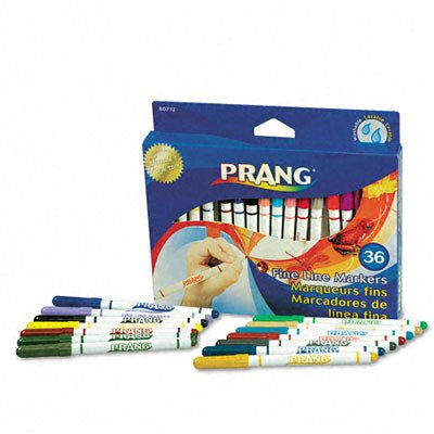 Prang Washable Markers Fine Point 36 Assorted SKU-PAS439300
