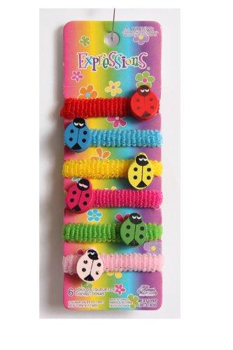 Expressions Girl's Ponytail Holder Set - Ladybugs