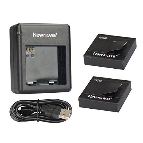 Newmowa-1200mAh-Rechargeable-Batteria-confezione-da-2-e-Doppio-Caricatore-Rapido-per-Xiaomi-Yi-Action-Camera