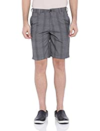 Blue Wave Grey Heather Casual Shorts For Men