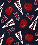 "60"" Wide Fleece Fabric Los Angeles Angels of Anaheim Fabric Sold By The Yard at Amazon.com"