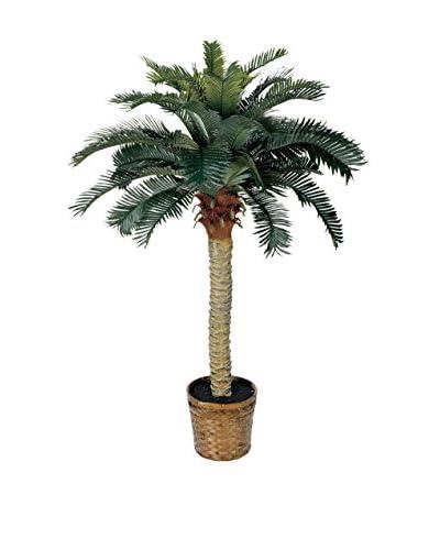 Nearly Natural Sago Silk Palm Tree, Green