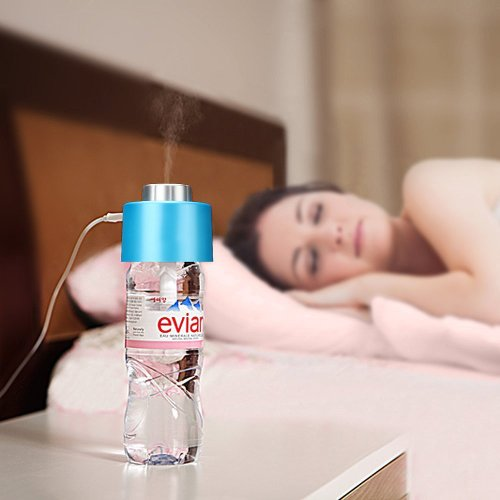 DBPOWER® Portable Water Bottle Steam USB Humidifier Air Mist Diffuser Blue