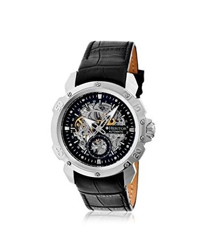 Heritor Men's HERHR2504 Carter Black Leather Watch