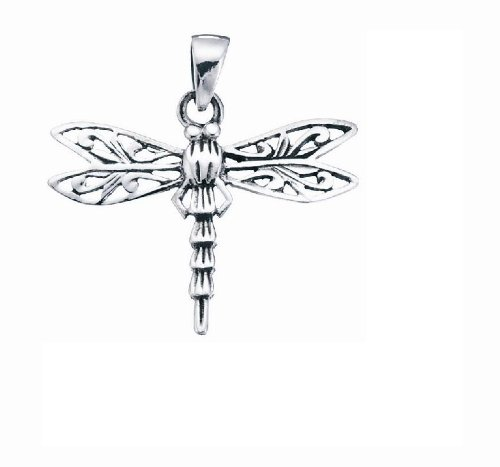 Dragonfly Silver Pendant Approx 25mm Across