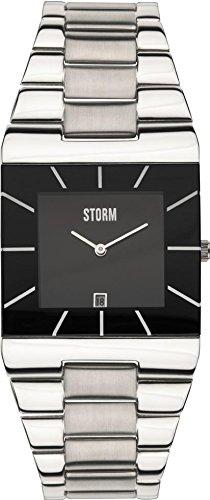 STORM 47195/BK - Orologio da polso, uomo, acciaio inox, colore: argento
