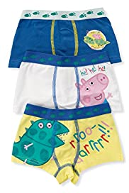 3 Pack Cotton Rich George Peppa Pig Trunks