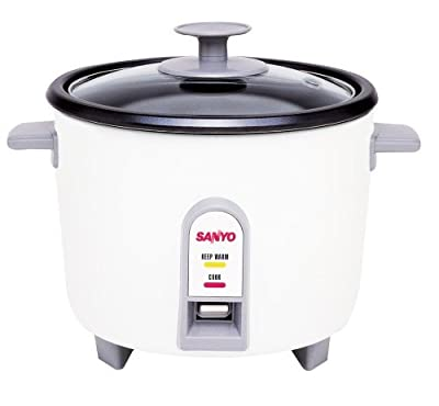 Sanyo EC-503 3-Cup (Uncooked) Rice Cooker and Vegetable Steamer, White from Sanyo