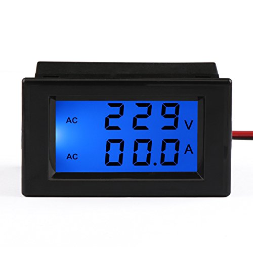 DROK®AC 100-300V 100A Digital Voltage Current Multimeter LCD Volt Amp Meter Gauge Panel Tester Voltage Amperage Dual Display Power Monitor with Blue Back-light and Current Transformer CT for Car Auto Battery Monitoring (Ac Voltage Meter compare prices)