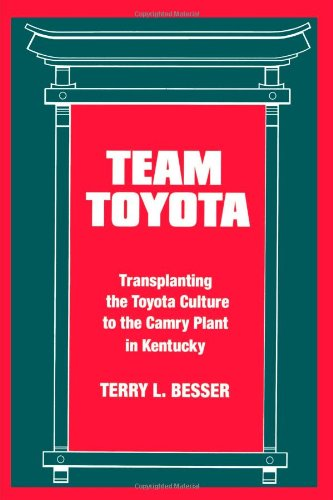Team Toyota: Transplanting the Toyota Culture to the Camry Plant in Kentucky (Suny Series in the Sociology of Work)