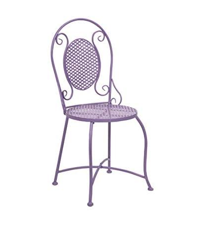 Yates Iron Bistro Chair, Purple