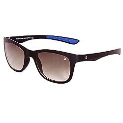 UCB Matt Black Gradient Wayfarer men Sunglasses with 100% UV Protection (BS536 I1)