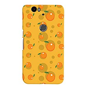 ColourCrust Huawei Google Nexus 6P Mobile Phone Back Cover With Fruity Pattern Style - Durable Matte Finish Hard Plastic Slim Case