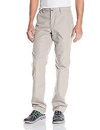 Mountain Khakis Men\'s Poplin Pant Slim Fit, Oatmeal, 33W/34-Inch