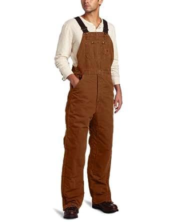 Carhartt Men's  Quilt Lined Sandstone Bib Overalls,Carhartt Brown,32 x 28