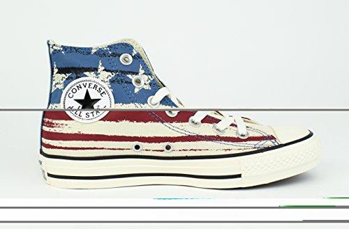 Converse Chuck Taylor All Star Flag Hi Fashion Sneaker - Chili Paste/Atlantic/Egret - Mens - 9
