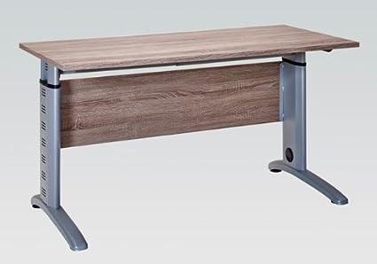 Buroeinrichtung Buromöbel Aktenschrank Aktenregal Truffeleiche Schreibtisch Weiß (Schreibtisch 140 cm (1210 ))